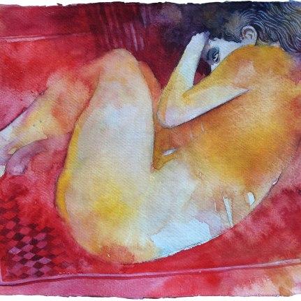Distesa sul tappeto rosso
