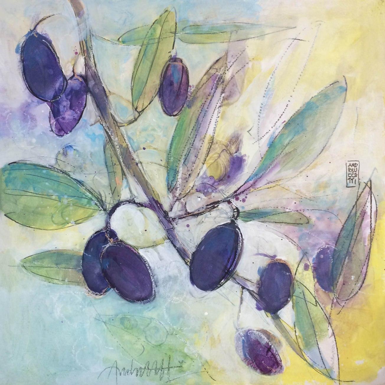 olive e foglie