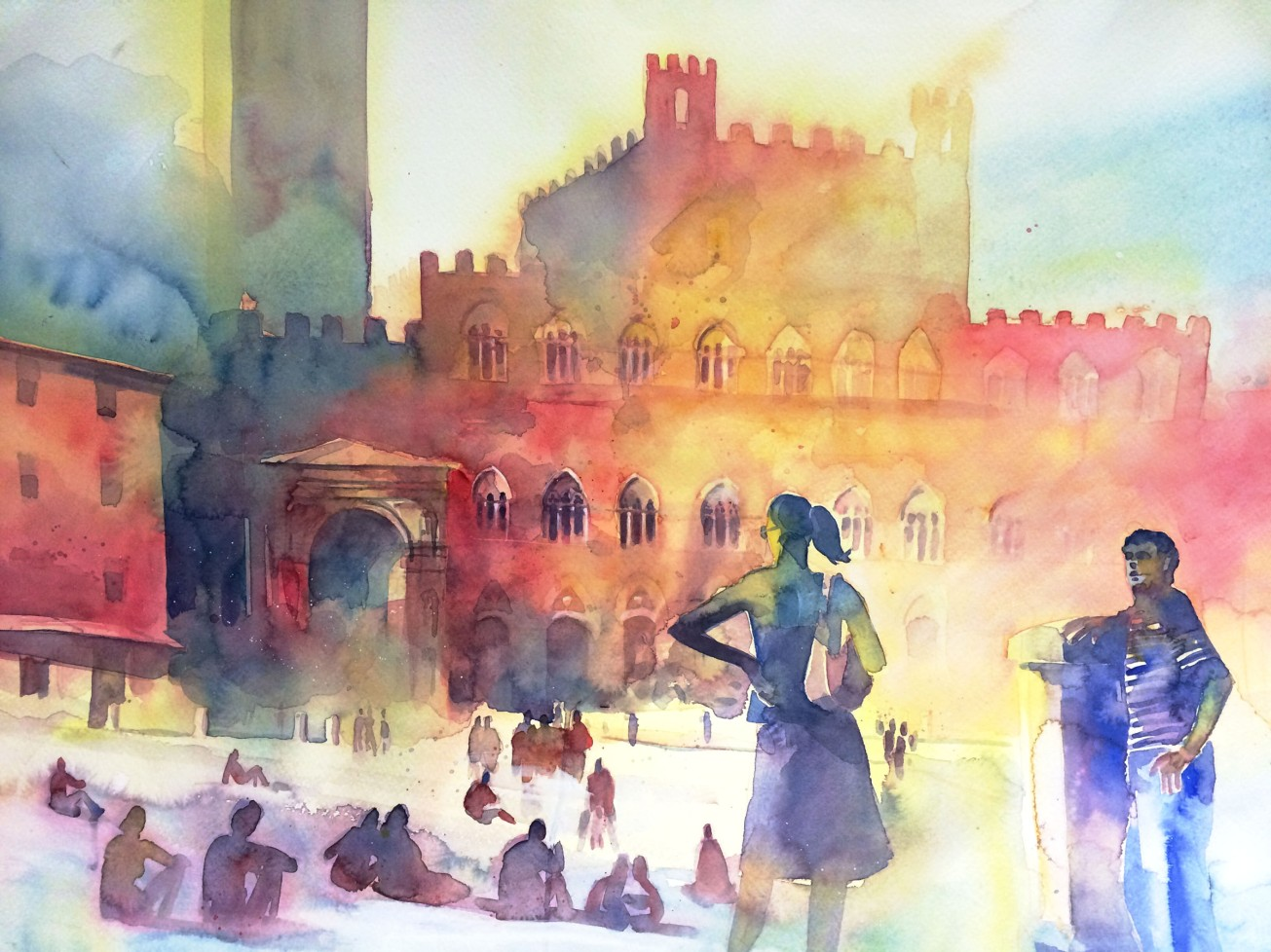 Giochi di colore in Piazza del Campo
