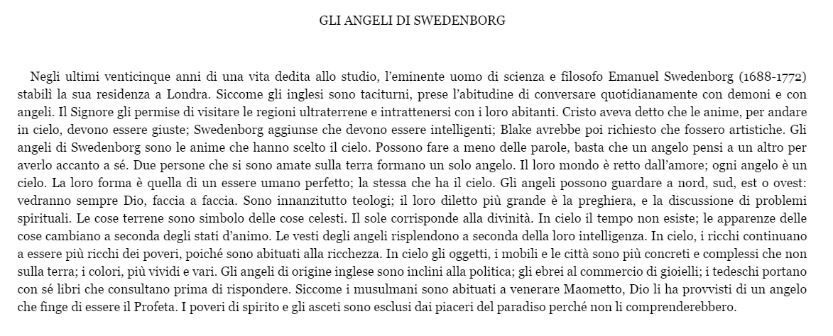 angeli di swedenborg-testo