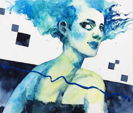 ragazza in azzurro (cm 53x46)