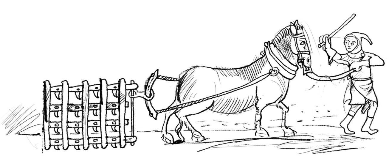 cavallo e contadinop