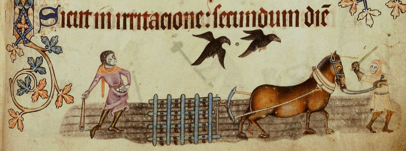 luttrell psalter 1330-Harrowing-l